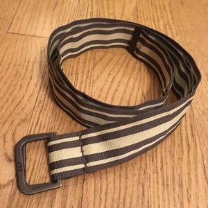 Gap striped green cloth men's belt